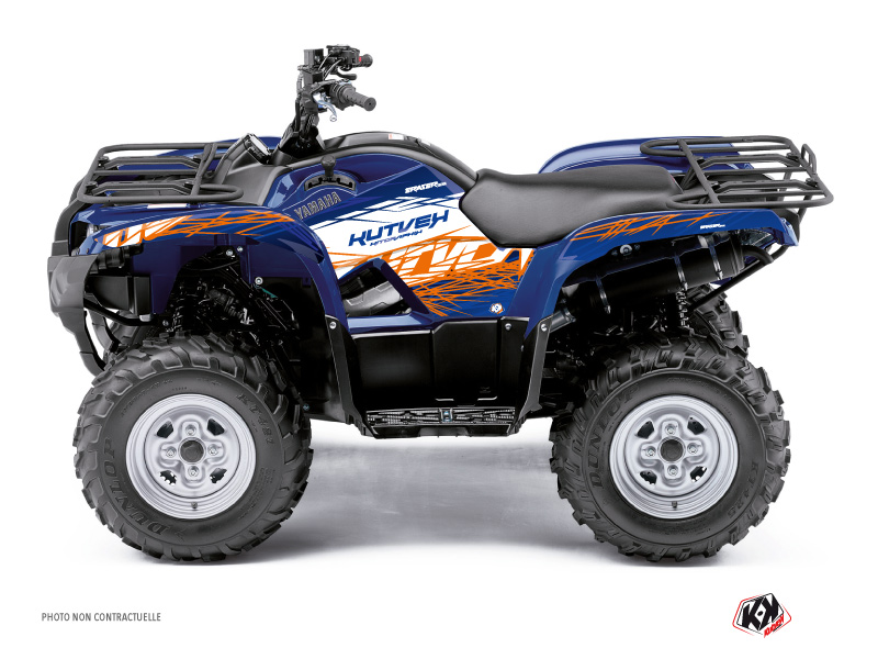 Yamaha 300 Grizzly ATV Eraser Graphic Kit Blue Orange