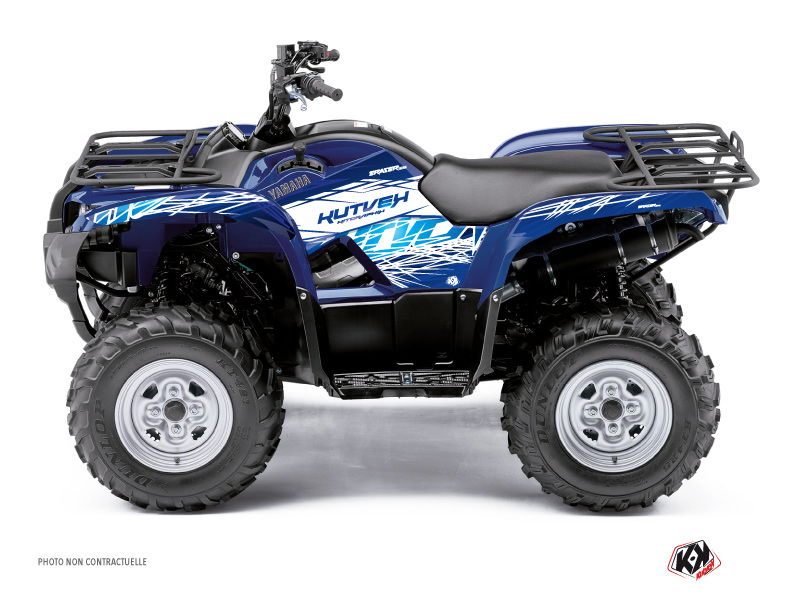 Yamaha 350 Grizzly ATV Eraser Graphic Kit Blue