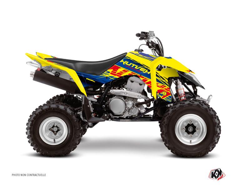 Suzuki 400 LTZ IE ATV Eraser Graphic Kit Blue Yellow