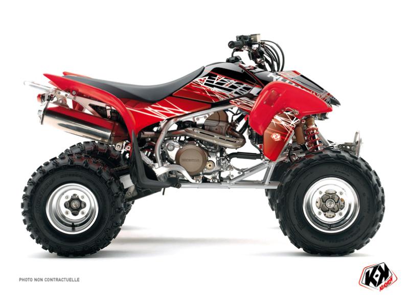 Honda 400 TRX ATV Eraser Graphic Kit Red White