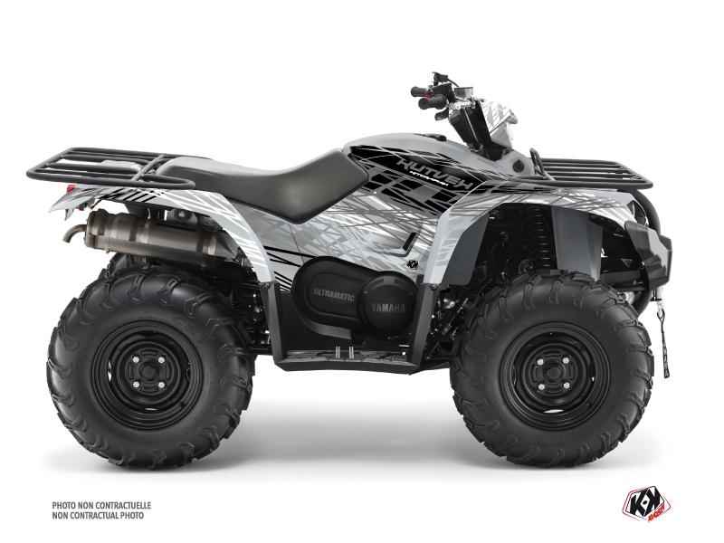 Yamaha 450 Kodiak ATV Eraser Graphic Kit Grey
