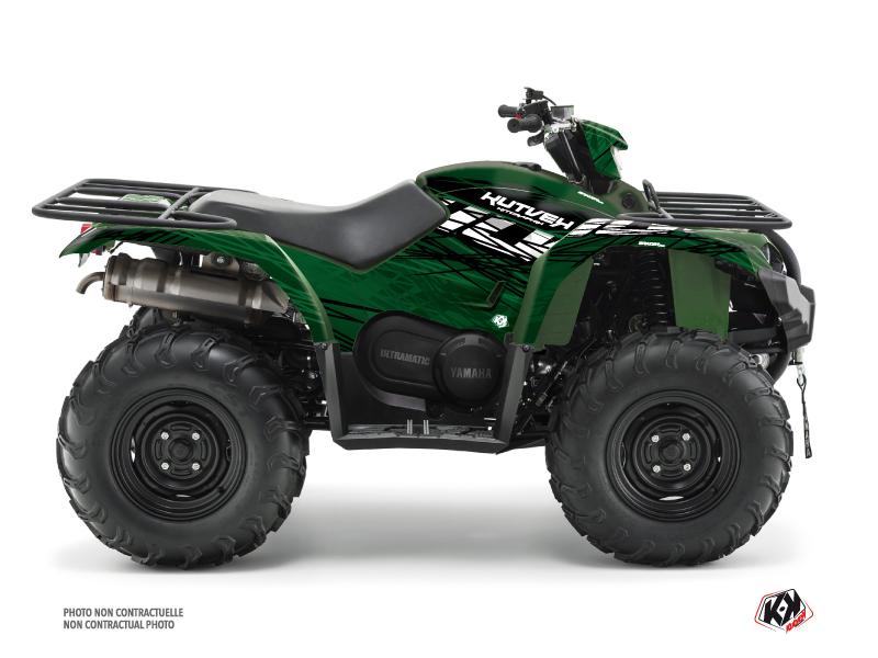 Yamaha 450 Kodiak ATV Eraser Graphic Kit Black Green