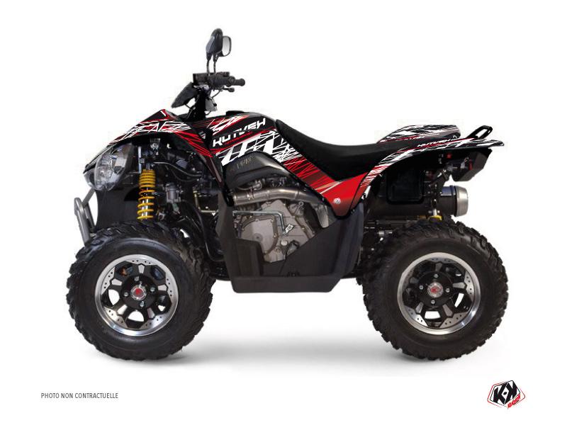 Kymco 450 MAXXER ATV Eraser Graphic Kit Red White