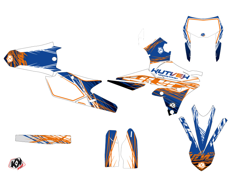 Yamaha 450 WRF Dirt Bike Eraser Graphic Kit Blue Orange