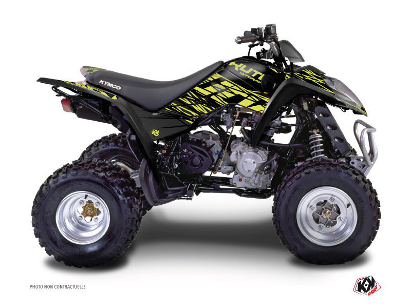 Kymco 90 MAXXER ATV Eraser Graphic Kit Neon Grey