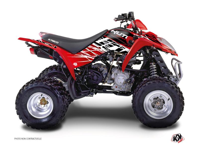 Kymco 50 MAXXER ATV Eraser Graphic Kit Red White