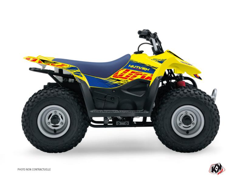 Suzuki 50 LT ATV Eraser Graphic Kit Blue Yellow