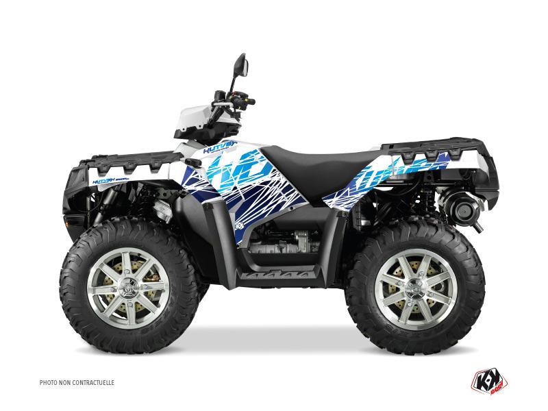 Polaris 500-800 Sportsman Forest ATV Eraser Graphic Kit Blue