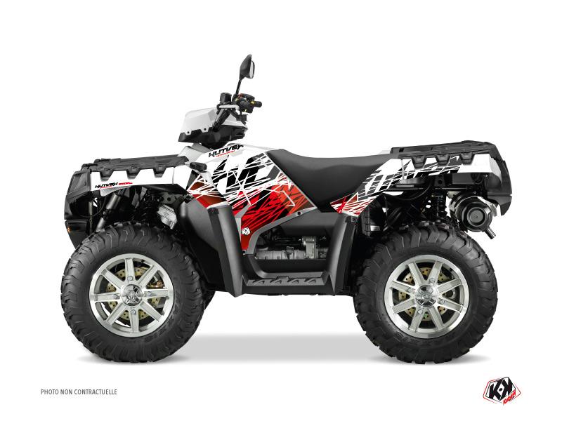 Polaris 500-800 Sportsman Forest ATV Eraser Graphic Kit Red White