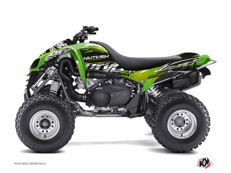 Kawasaki 700 KFX ATV Eraser Graphic Kit Green Black