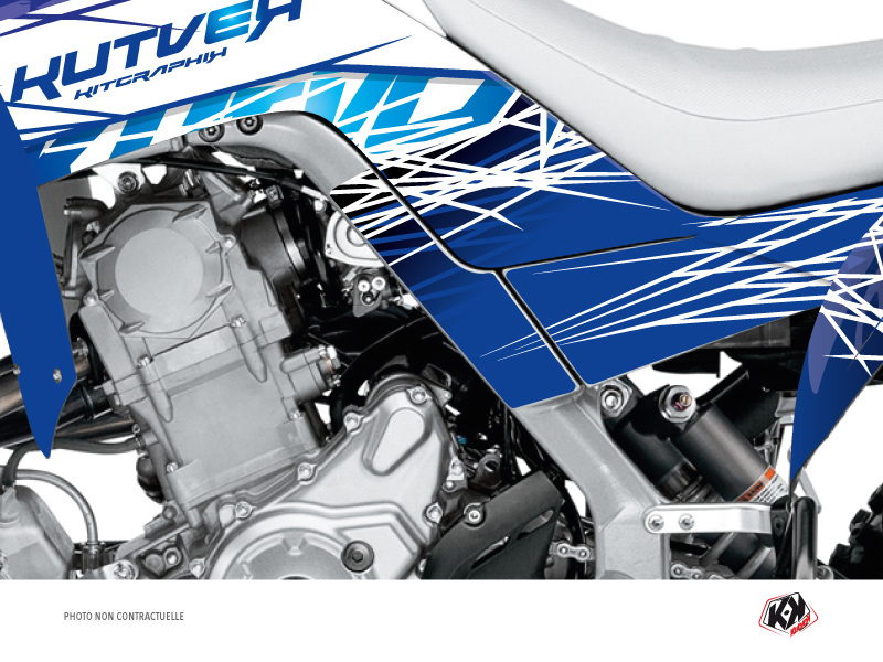 Graphic Kit Frame protection ATV Eraser Yamaha 700 Raptor 2013-2019 Blue x3