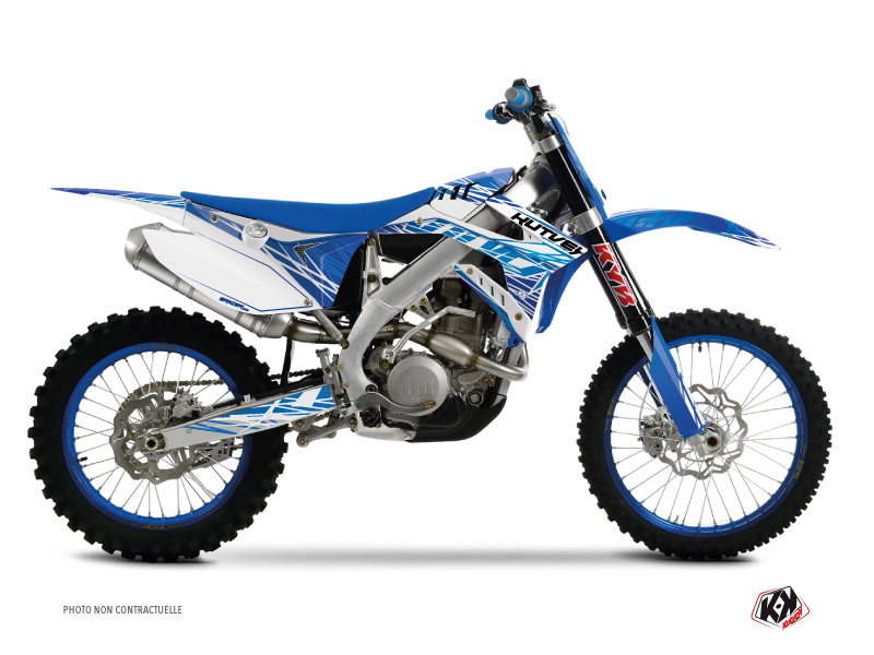 TM MX 85 Dirt Bike Eraser Graphic Kit Blue
