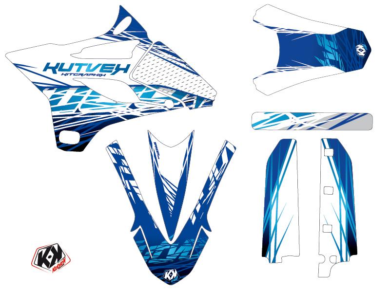 Yamaha 85 YZ Dirt Bike Eraser Graphic Kit Blue LIGHT