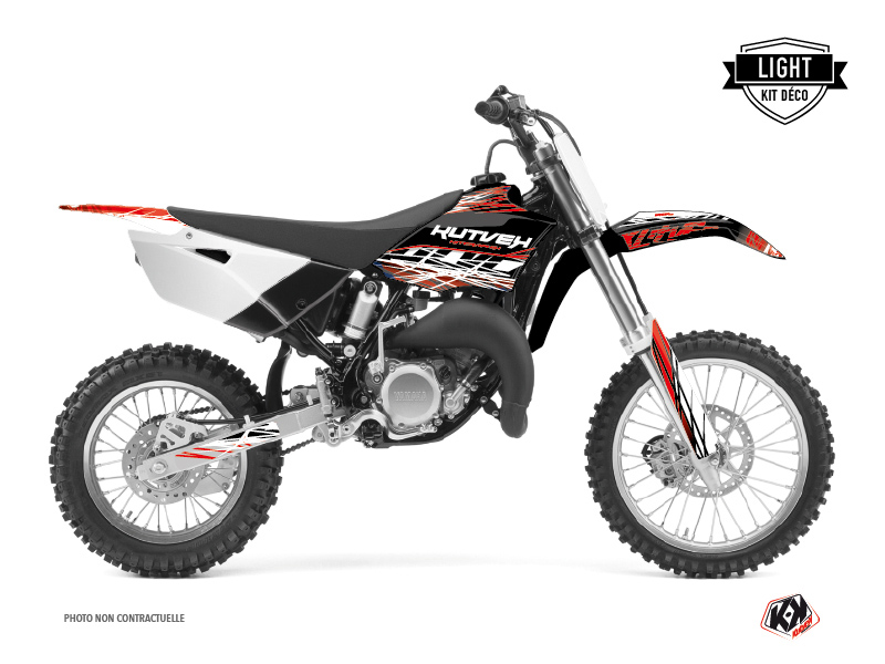 Kit Déco Moto Cross Eraser Yamaha 85 YZ Rouge Blanc LIGHT