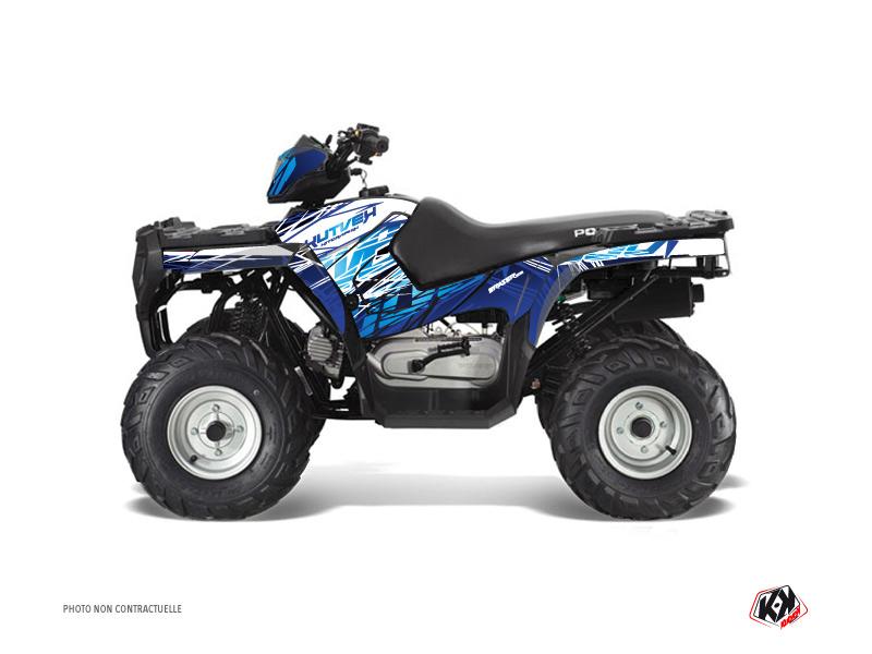 Polaris 90 Sportsman ATV Eraser Graphic Kit Blue