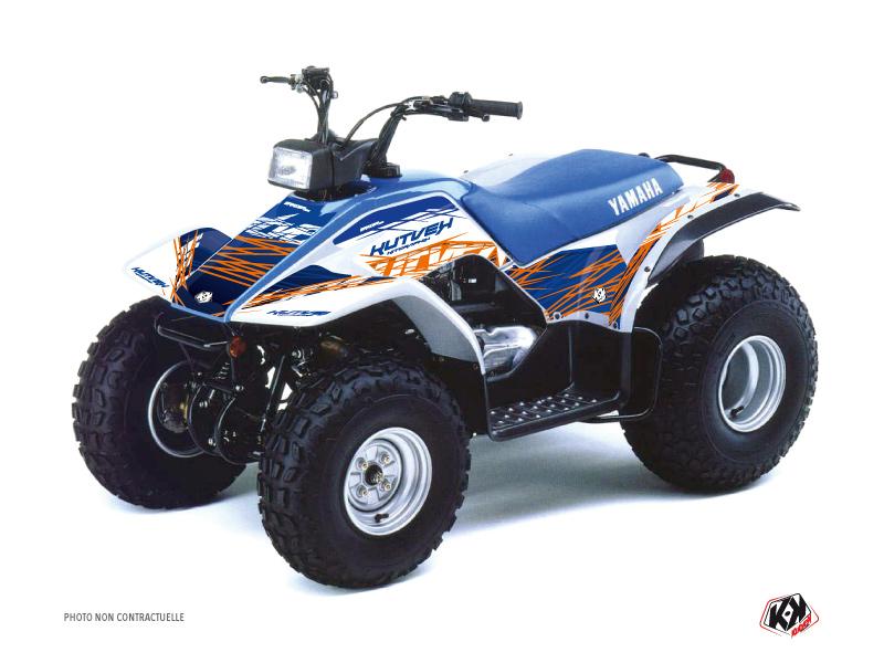 Yamaha Breeze ATV Eraser Graphic Kit Blue Orange