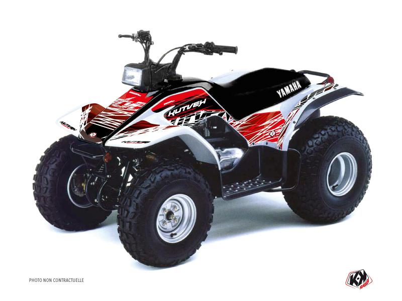 Yamaha Breeze ATV Eraser Graphic Kit Red White