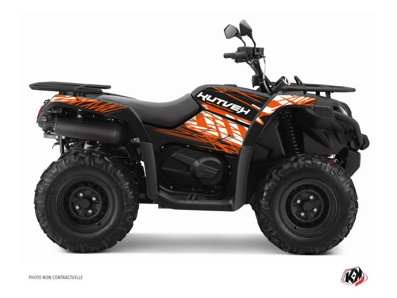 CF MOTO CFORCE 520 S ATV Eraser Graphic Kit Orange Black