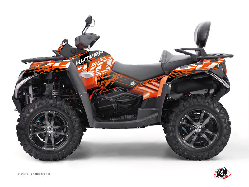 CF MOTO CFORCE 800 S ATV Eraser Graphic Kit Orange Black