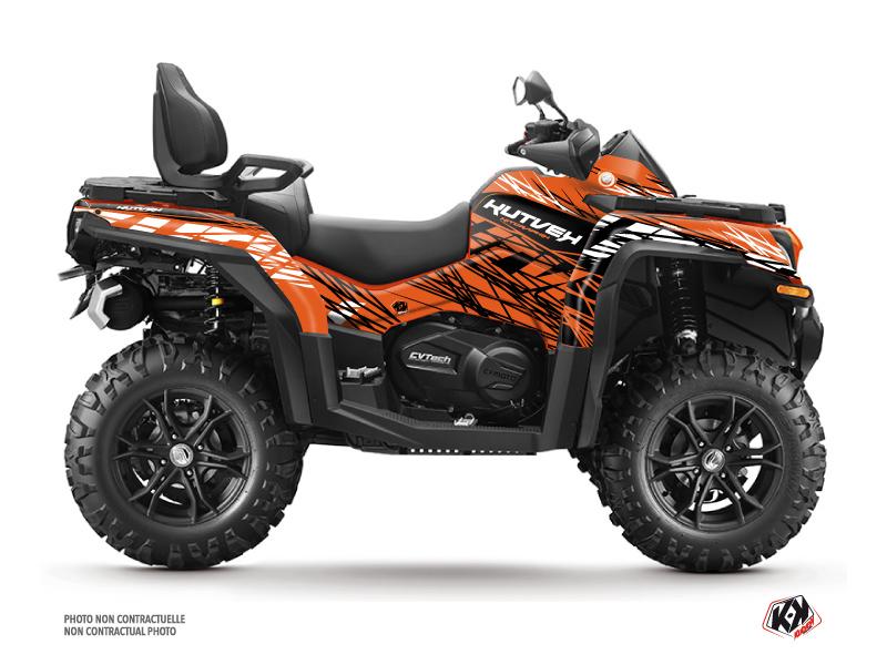 CF MOTO CFORCE 800 XC ATV Eraser Graphic Kit Orange Black