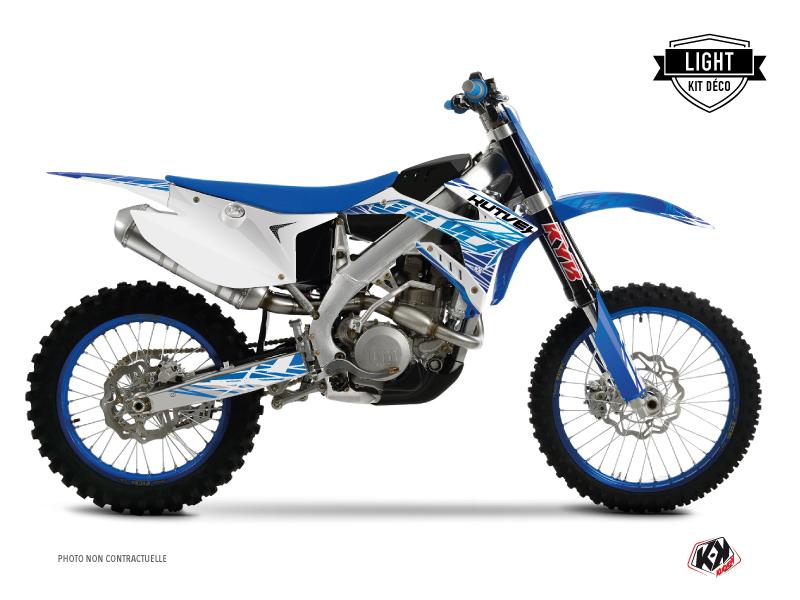 TM EN 300 Dirt Bike Eraser Graphic Kit Blue LIGHT