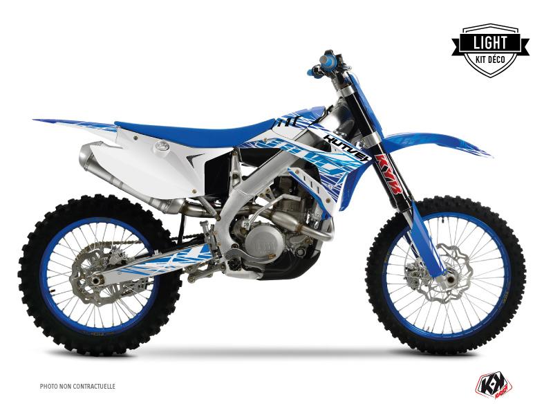 TM EN 450 FI Dirt Bike Eraser Graphic Kit Blue LIGHT