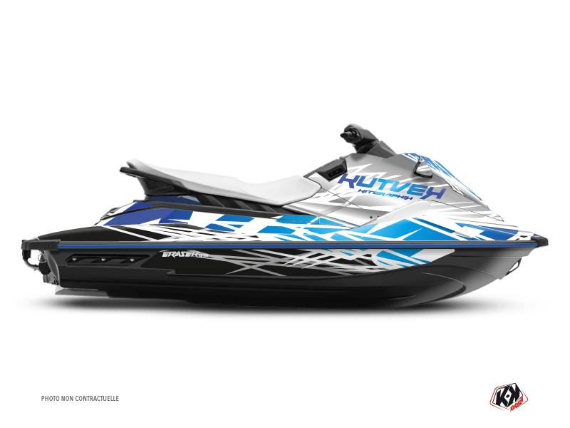 Yamaha EX Jet-Ski Eraser Graphic Kit White Blue