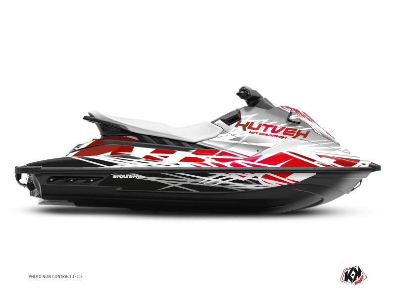 Yamaha EX Jet-Ski Eraser Graphic Kit White Red
