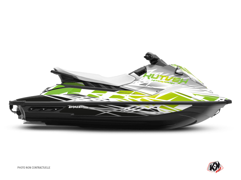 Yamaha EX Jet-Ski Eraser Graphic Kit White Green