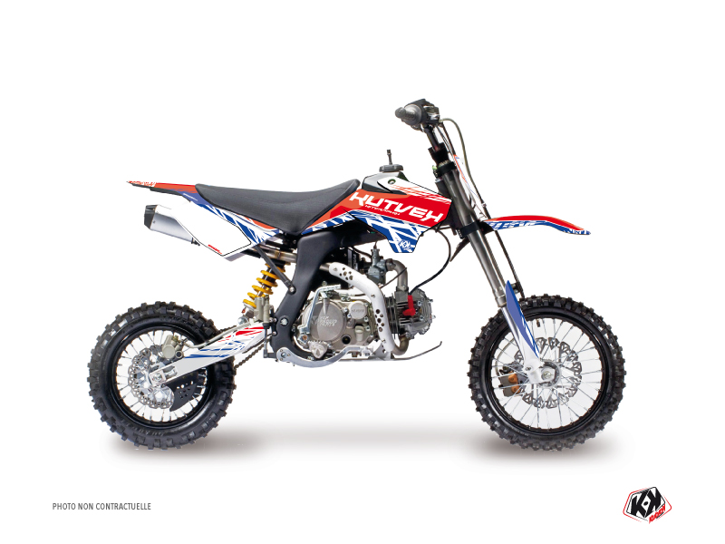 Kit Déco Moto Cross Eraser YCF F150 Rouge Bleu
