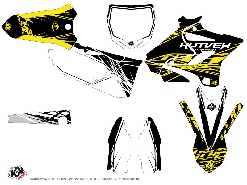 Yamaha 125 YZ Dirt Bike Eraser Fluo Graphic Kit Yellow
