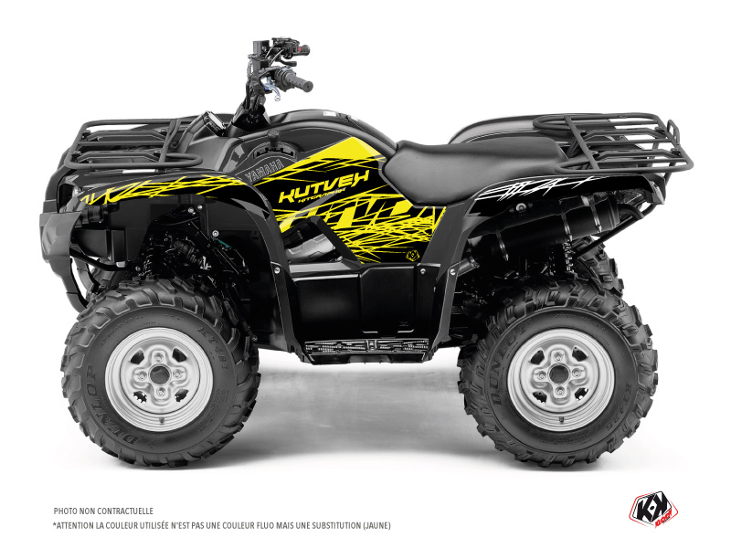 Yamaha 125 Grizzly ATV Eraser Fluo Graphic Kit Yellow
