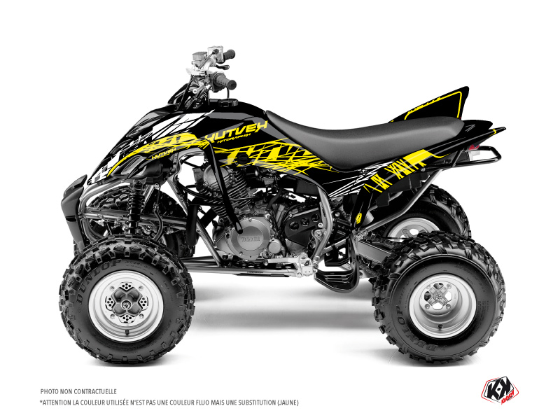 Yamaha 350 Raptor ATV Eraser Fluo Graphic Kit Yellow