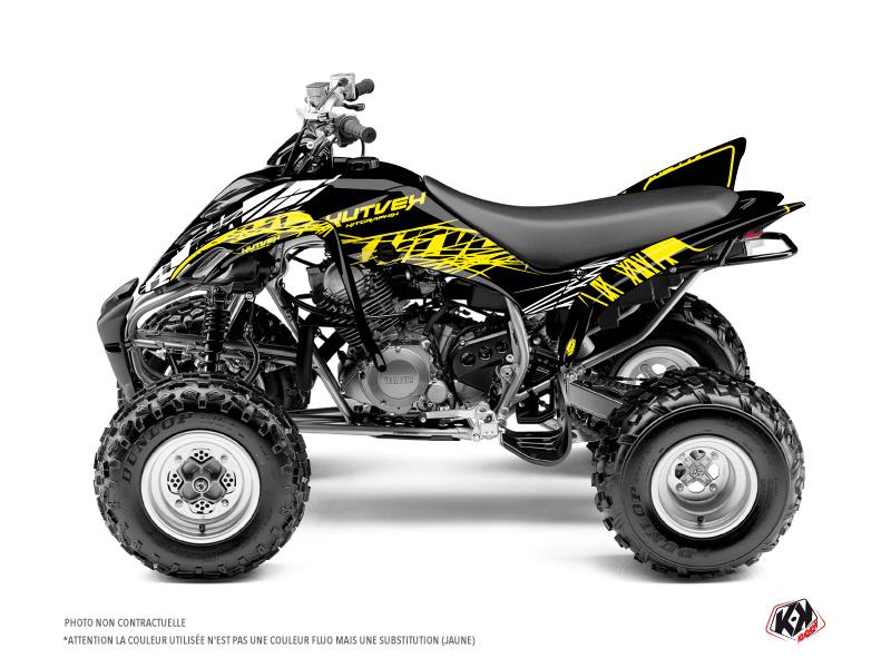 Yamaha 350 Raptor ATV Eraser Fluo Graphic Kit Yellow