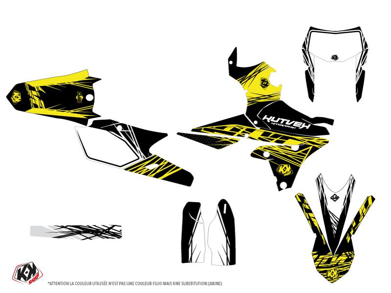 Yamaha 450 WRF Dirt Bike Eraser Fluo Graphic Kit Yellow