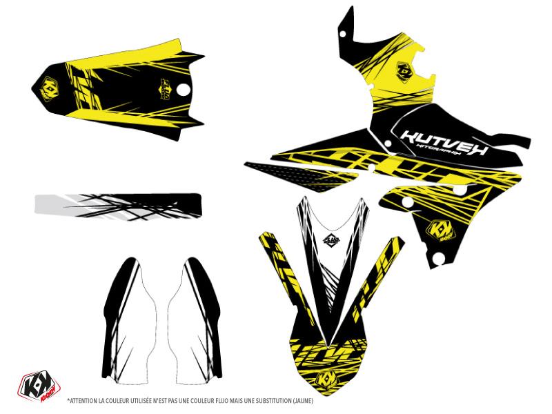 Kit Déco Moto Cross Eraser Fluo Yamaha 450 YZF Jaune LIGHT