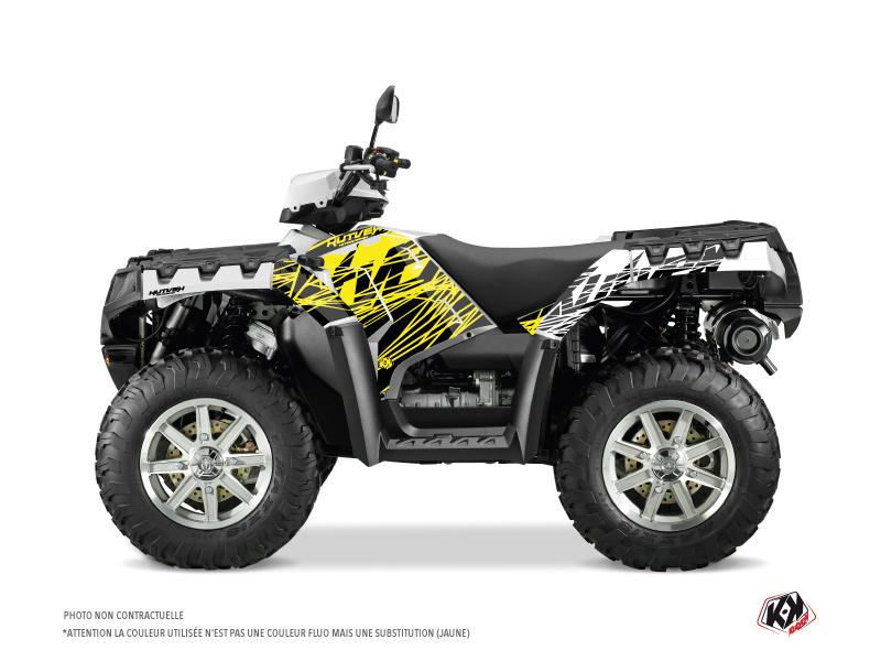 Polaris 550-850-1000 Sportsman Touring ATV Eraser Fluo Graphic Kit Yellow