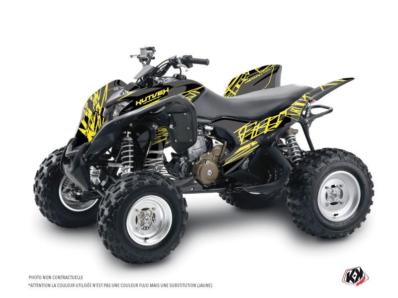 Honda 700 TRX ATV Eraser Fluo Graphic Kit Yellow
