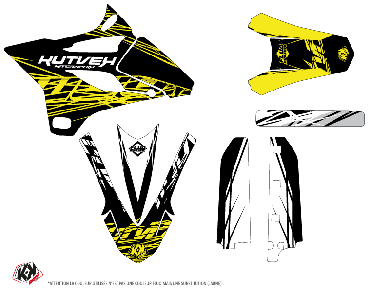 Yamaha 85 YZ Dirt Bike Eraser Fluo Graphic Kit Yellow LIGHT