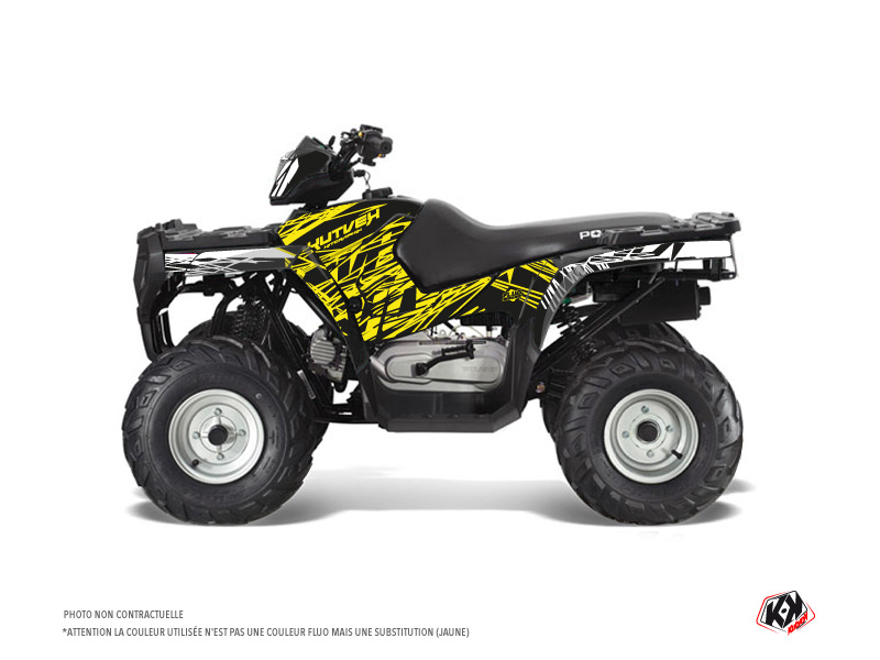 Polaris 90 Sportsman ATV Eraser Fluo Graphic Kit Yellow