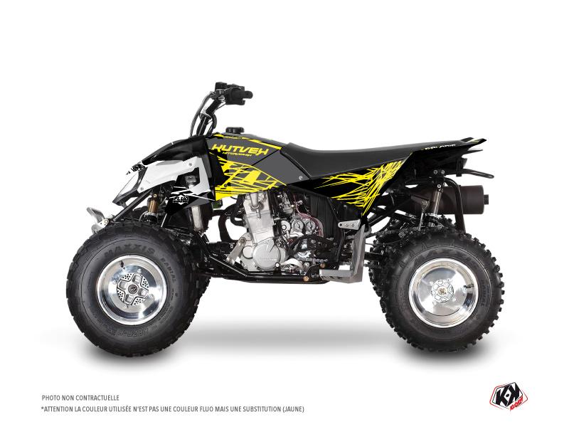 Polaris Outlaw 450 ATV Eraser Fluo Graphic Kit Yellow
