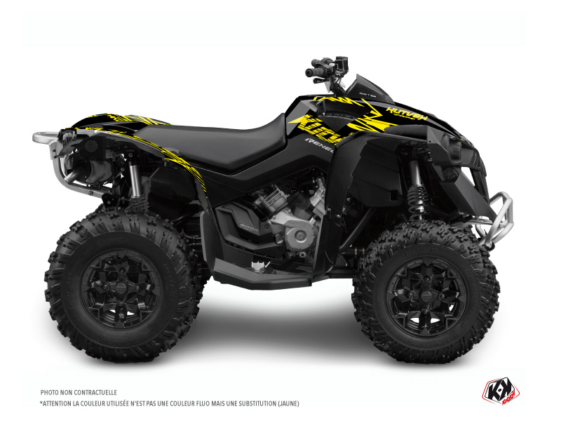 Can Am Renegade ATV Eraser Fluo Graphic Kit Yellow