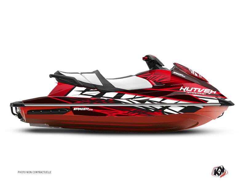 Yamaha GP 1800 Jet-Ski Eraser Graphic Kit Red White