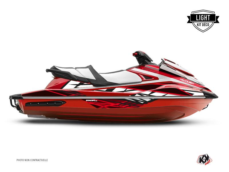 Yamaha GP 1800 Jet-Ski Eraser Graphic Kit Red White LIGHT