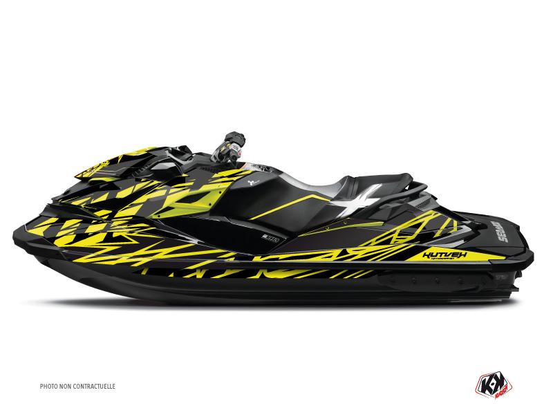 Seadoo GTR-GTI Jet-Ski Eraser Graphic Kit Neon Grey