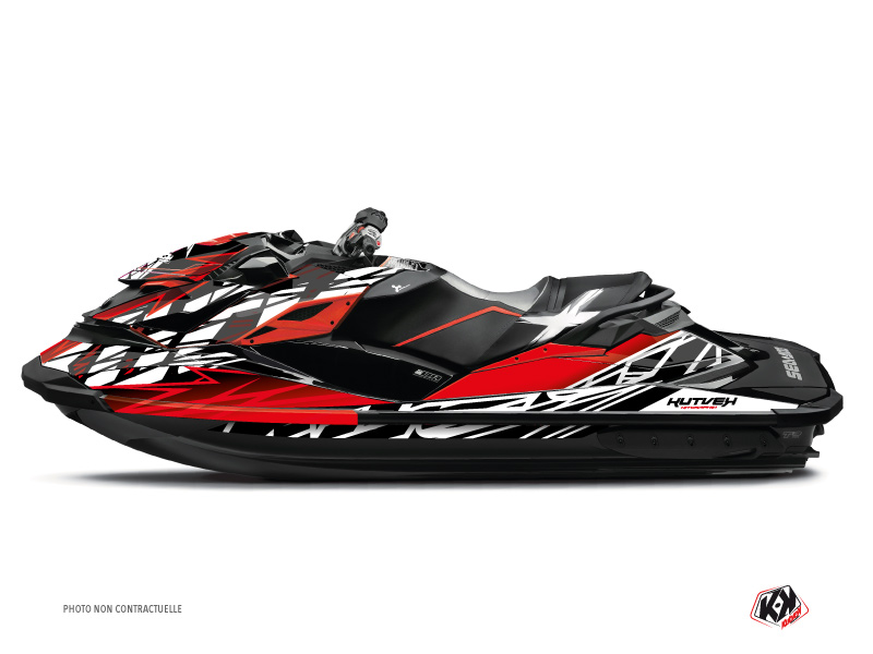 Seadoo GTR-GTI Jet-Ski Eraser Graphic Kit Red White
