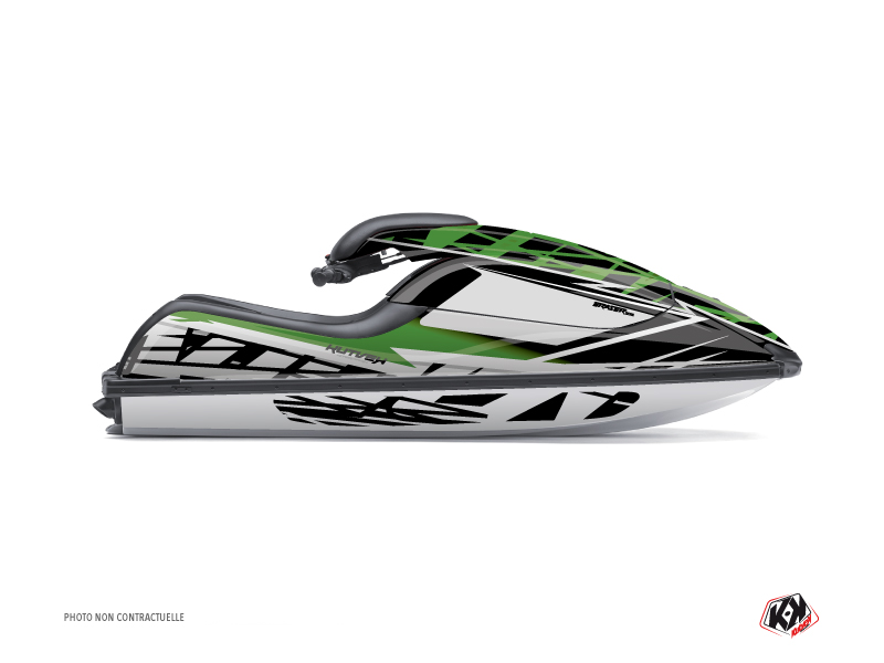 Kawasaki Jet X2 Jet-Ski Eraser Graphic Kit Green Black
