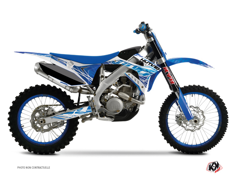 TM MX 125 Dirt Bike Eraser Graphic Kit Blue