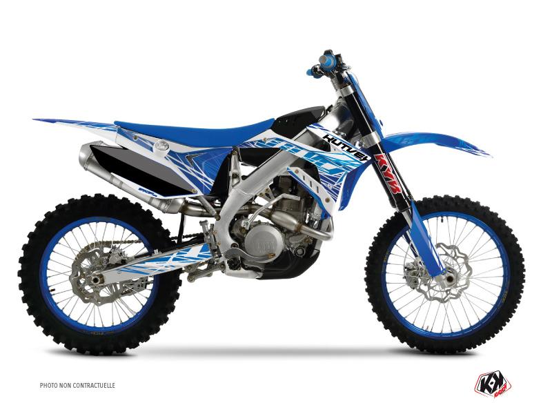 Kit Déco Moto Cross Eraser TM MX 125 Bleu