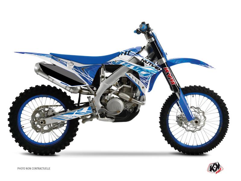 TM MX 250 FI Dirt Bike Eraser Graphic Kit Blue